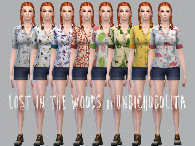 Lost in the woods shirts AF at Un bichobolita image 3013 Sims 4 Updates