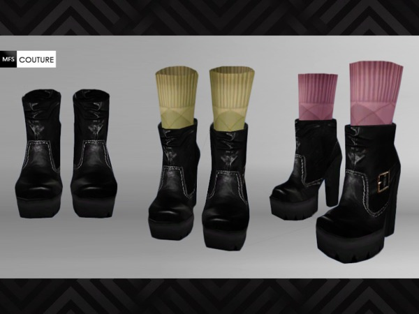 Sims 4 MFS Victoria Ankle Boots by MissFortune at TSR