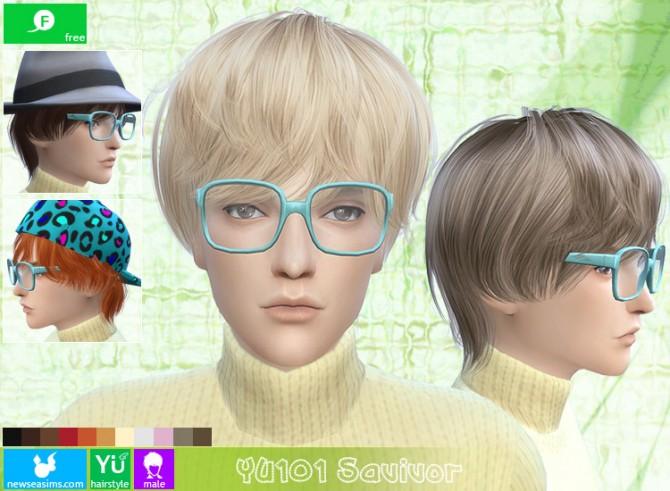 Sims 4 YU101 Savivor hair (Free) at Newsea Sims 4
