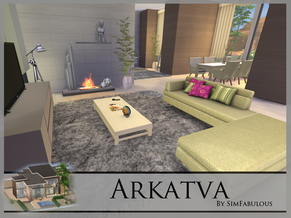 Arkatva house by SimFabulous at TSR image 31 Sims 4 Updates