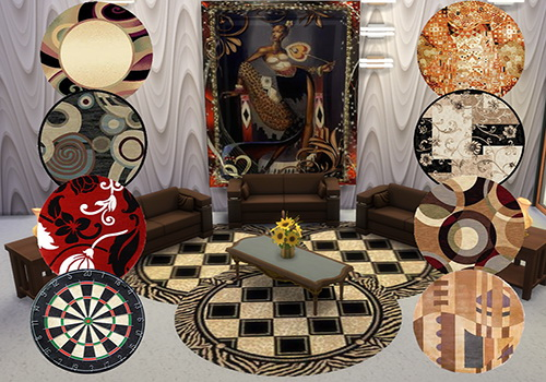 Sims 4 Hand woven rugs at Trudie55
