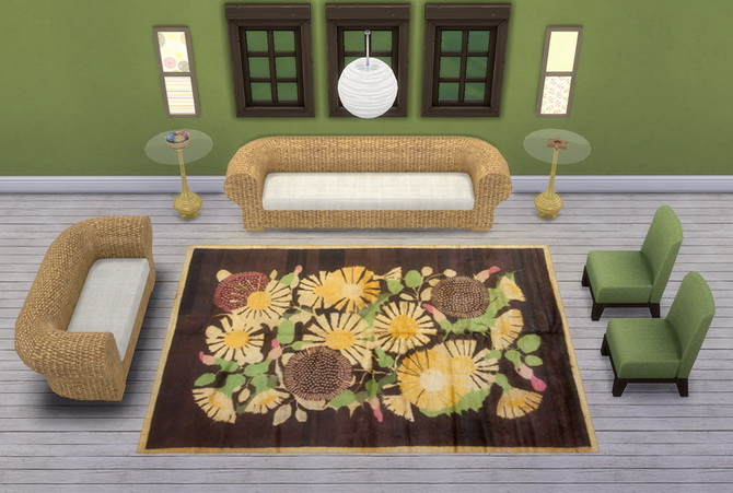 32 4x3 rugs at saudade sims sims 4 updates for Living room 4x3