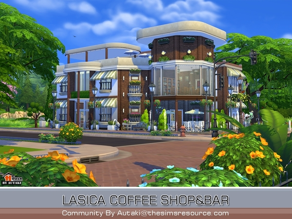 Lasica Coffee Shop by autaki at TSR image 316 Sims 4 Updates