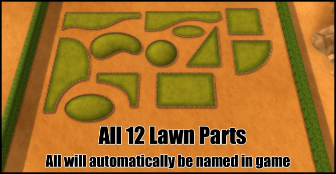 Unlocked Lawn Parts (12 parts) by Bakie at Mod The Sims image 3216 Sims 4 Updates