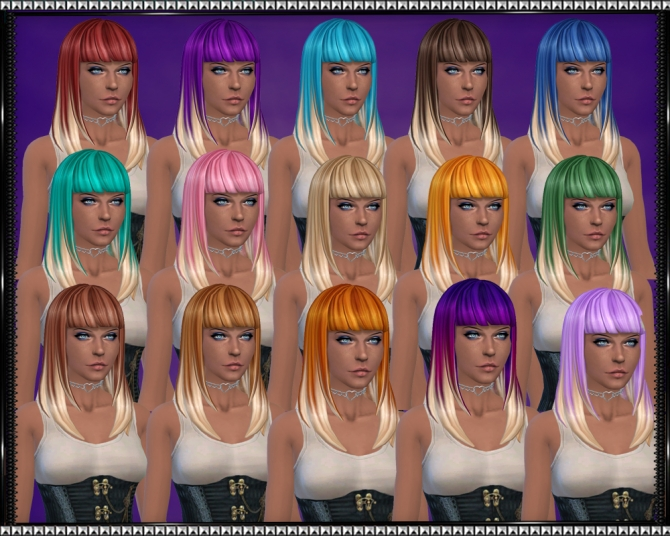 Color Vibe Hair w/ Blonde Tips by SrslySims at Mod The Sims image 3225 Sims 4 Updates