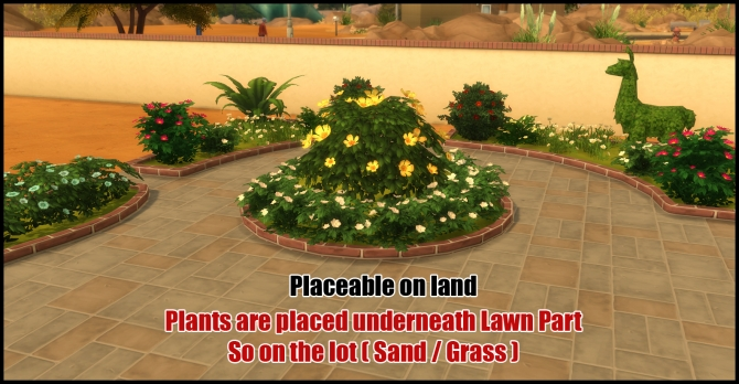 Unlocked Lawn Parts (12 parts) by Bakie at Mod The Sims image 3314 Sims 4 Updates