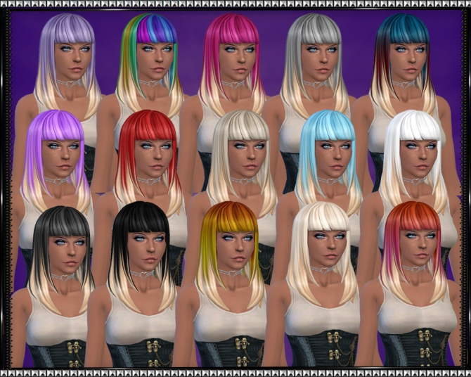 Color Vibe Hair w/ Blonde Tips by SrslySims at Mod The Sims image 3324 Sims 4 Updates