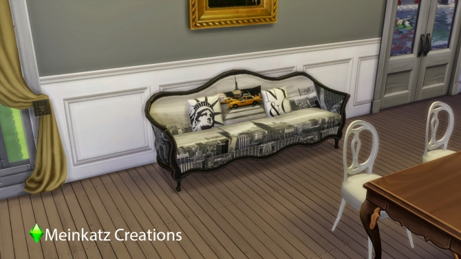 Sims 4 City Sofa at Meinkatz Creations
