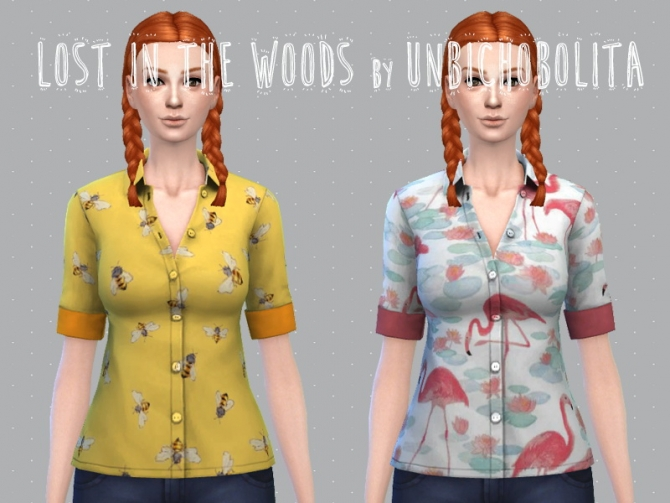 Lost in the woods shirts AF at Un bichobolita image 3411 Sims 4 Updates