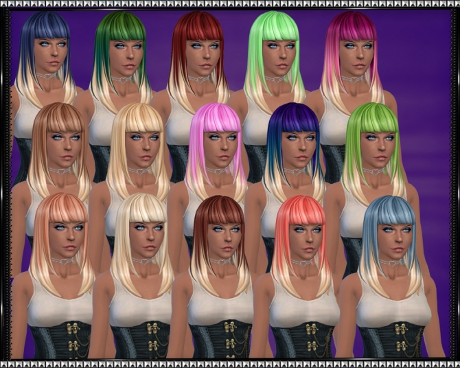 Color Vibe Hair w/ Blonde Tips by SrslySims at Mod The Sims image 3423 Sims 4 Updates