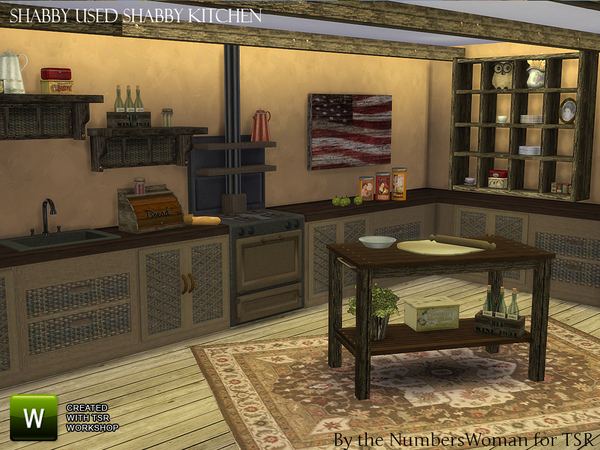 Shabby Bargain Shabby Chic Kitchen by TheNumbersWoman at TSR image 3424 Sims 4 Updates