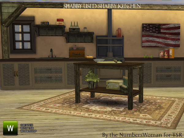 Shabby Bargain Shabby Chic Kitchen by TheNumbersWoman at TSR image 3522 Sims 4 Updates