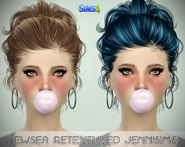 Sims 4 Newseas Color Of Wind, Rachel, Isabel hair retextures at Jenni Sims