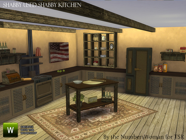 Shabby Bargain Shabby Chic Kitchen by TheNumbersWoman at TSR image 3625 Sims 4 Updates