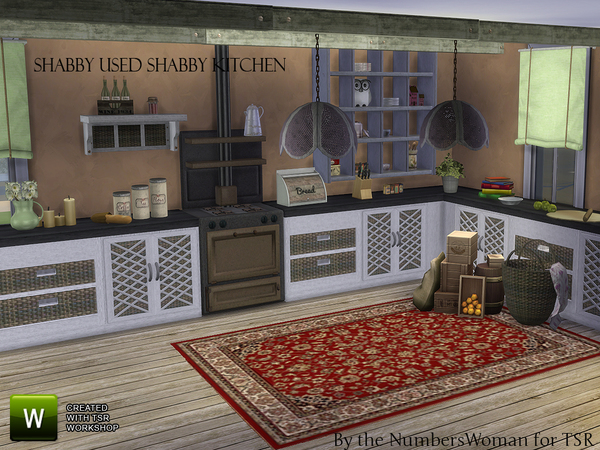 Shabby Bargain Shabby Chic Kitchen by TheNumbersWoman at TSR image 37221 Sims 4 Updates