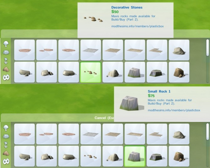Liberated Rocks 2 by plasticbox at Mod The Sims image 384 670x536 Sims 4 Updates