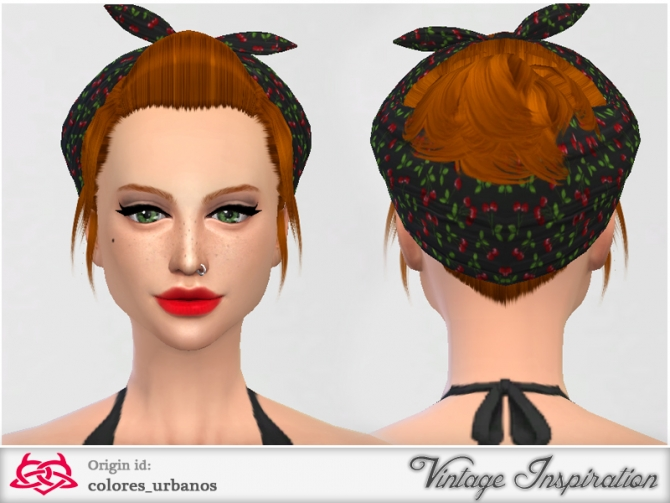 My everyday Pinup Hairstyle 02 by Colores Urbanos at TSR image 388 Sims 4 Updates