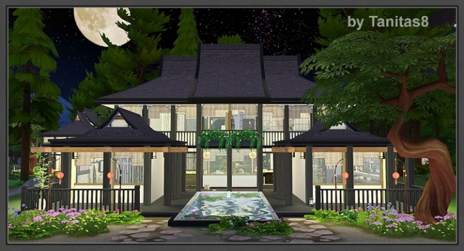 Asian house at tanitas8 sims 187 sims 4 updates