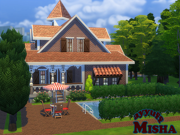 Sims 4 Misha furnished house by ayyuff at TSR