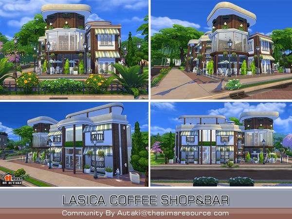 Sims 4 Lasica Coffee Shop by autaki at TSR