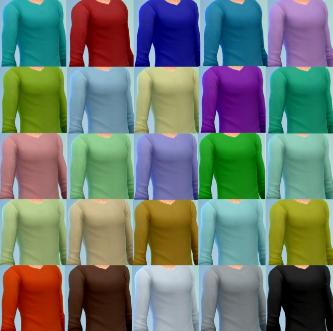 Sims 4 Fake undershirts for male by moznoz at Mod The Sims