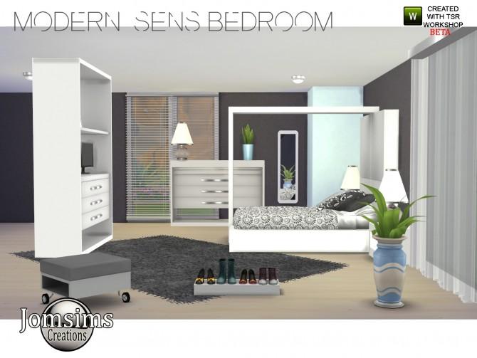 Modern Sens Bedroom At Jomsims Creations 187 Sims 4 Updates