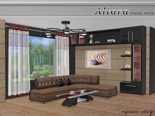 Sims 4 Altara Living Room by NynaeveDesign at TSR