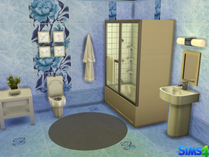 Sims 4 Louise tiles set by Red Queen at ihelensims