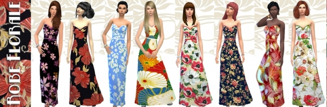 Floral dress by Fuyaya at Sims Artists image 4821 Sims 4 Updates