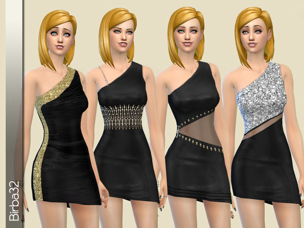 Asymmetric black dress by Birba32 at TSR image 49 Sims 4 Updates