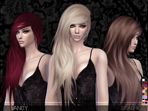 Sims 4 Vanity female hair by Stealthic at TSR