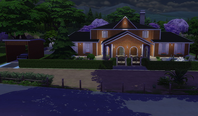 Sims 4 Rustic and Modern house by Sim4fun at Sims Fans