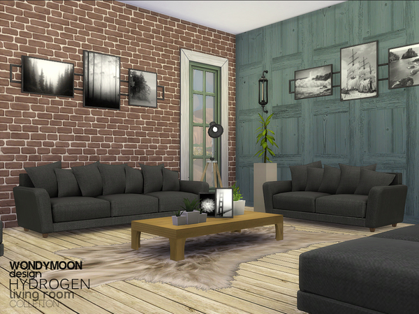 Hydrogen living by wondymoon at tsr sims 4 updates for 3 star living room chair sims