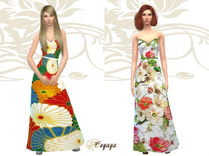 Floral dress by Fuyaya at Sims Artists image 5020 Sims 4 Updates