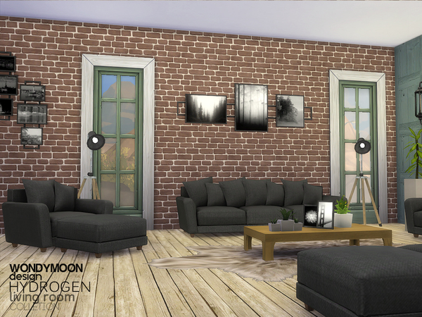 Hydrogen Living by wondymoon at TSR image 5120 Sims 4 Updates