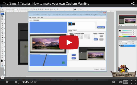Sims 4 Make Custom Paintings & Wallstickers 2 Video Tutorials by Bakie at Sims 4 Studio