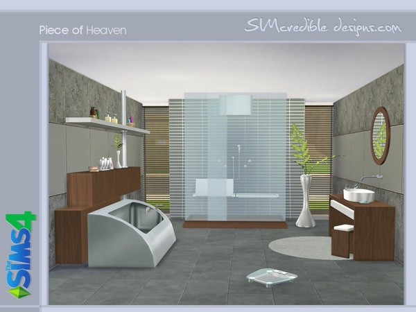 The Sims 4 Bathroom Ideas : Piece of heaven bathroom by simcredible at tsr ? sims