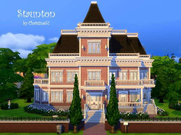 Staunton house by Christina51 at TSR image 5213 Sims 4 Updates