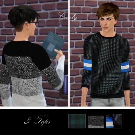 Sims 4 3 tops at CCTS4