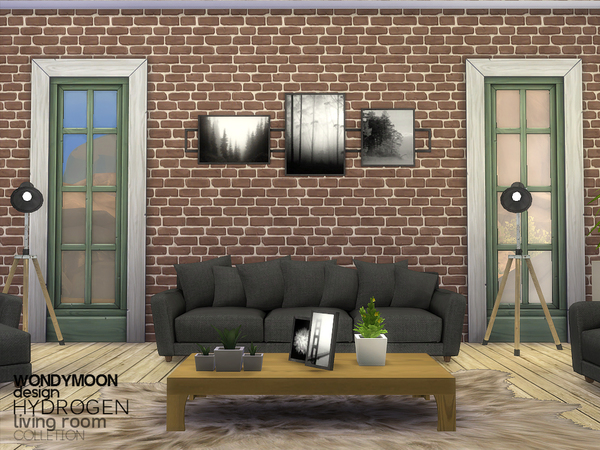Sims 4 Hydrogen Living by wondymoon at TSR