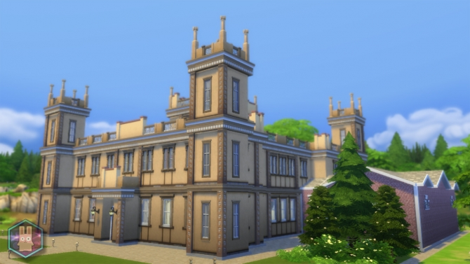 Sims 4 Downton Abbey (Highclere Castle) by Amichan619 at Mod The Sims