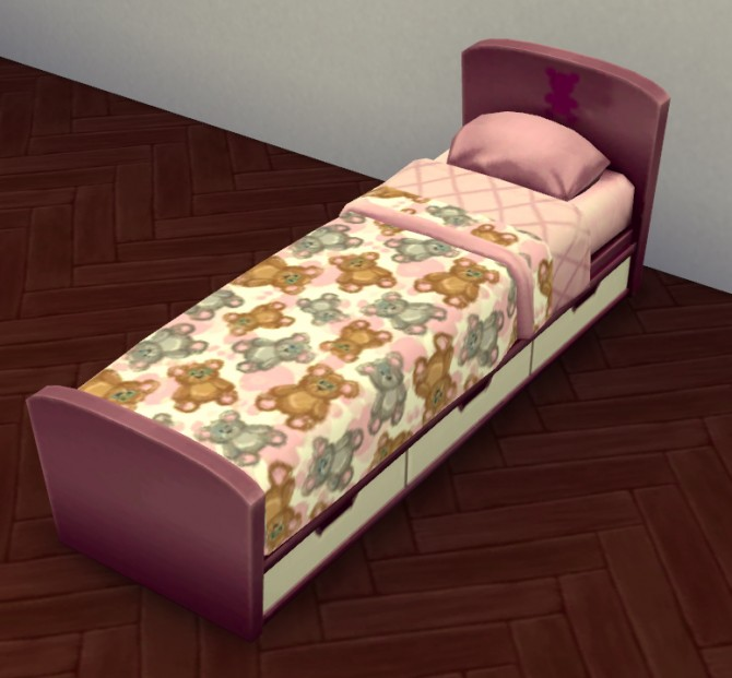 Teddy Bear Kiddies Bed Set by Lauren Cheerio at Mod The Sims image 526 670x621 Sims 4 Updates