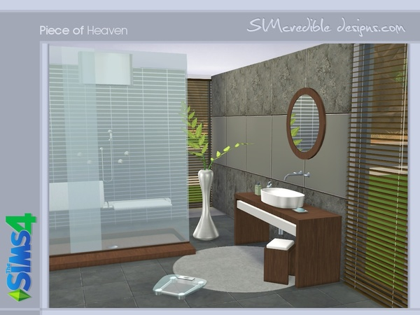 Piece of heaven bathroom by simcredible at tsr sims 4 for Bathroom ideas sims 3