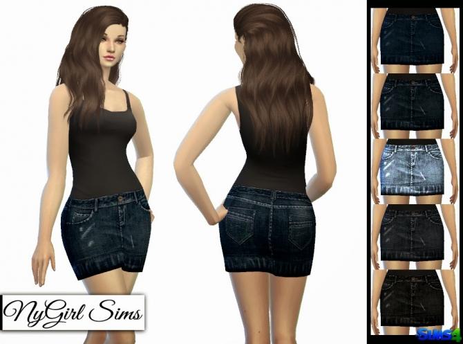 Sims 4 TS3 Denim Skirt Conversion at NyGirl Sims