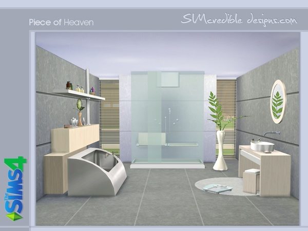 Piece of heaven bathroom by simcredible at tsr sims 4 for Bathroom design simulator