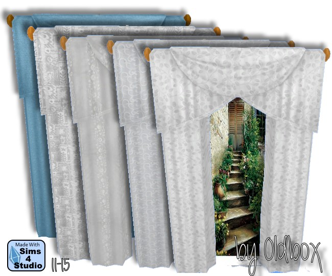 Sims 4 Curtains by Oldbox at All 4 Sims