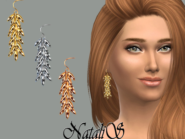 Cascades linear drop earrings by NataliS at TSR image 5417 Sims 4 Updates