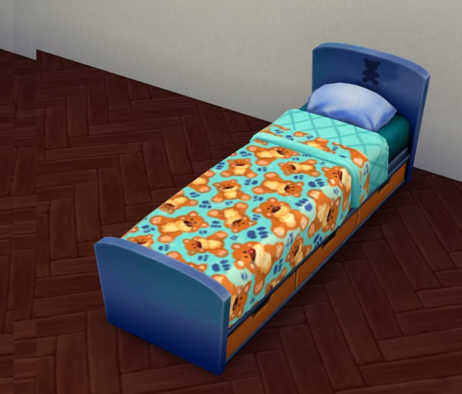 Teddy Bear Kiddies Bed Set by Lauren Cheerio at Mod The Sims image 546 670x572 Sims 4 Updates