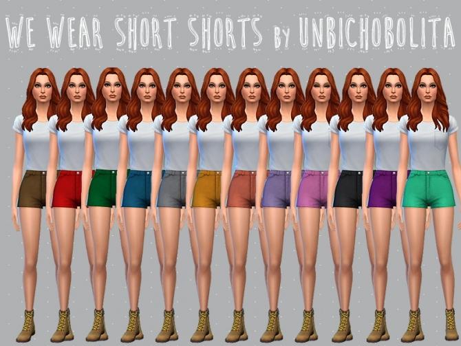 Shorts recolors at Un bichobolita image 5513 Sims 4 Updates