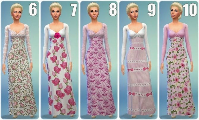 Sims 4 Sleeping Beauty dresses at Annett's Sims 4 Welt